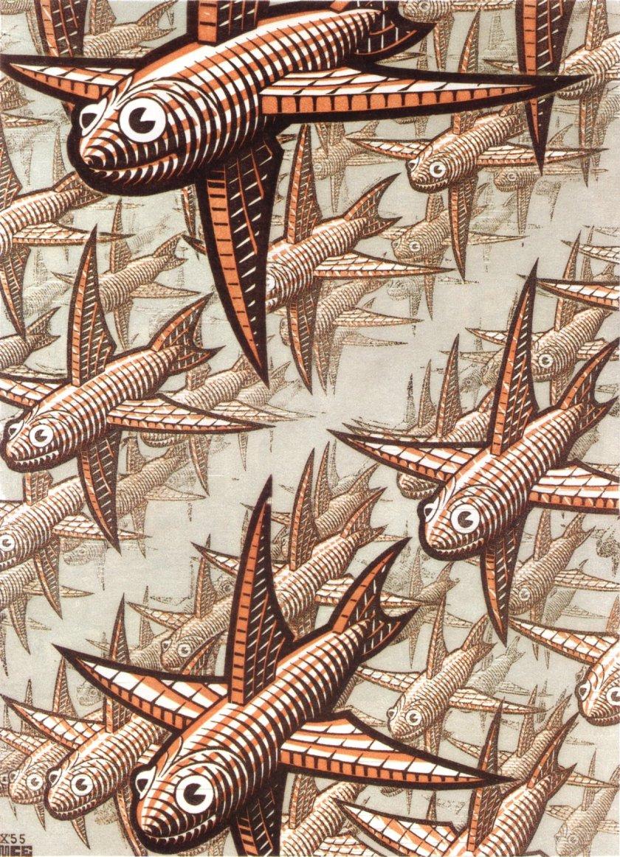 M. C. Escher, Depth.